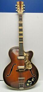 Orig. 1958 RARE Hofner 4550 Semi-Acoustic Electric Guitar-w/Gig Bag