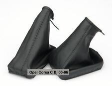 Schalthebelmanschette + Handbremsmanschette  Opel Corsa C Echtes Leder