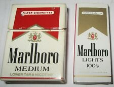 Marlboro Matchbox Lot Medium Mini Flip Top Box Lights 100's German Club Ad Promo