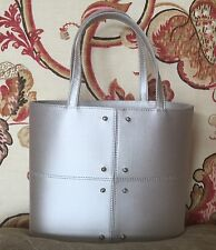 Tod's Silver Silk Satin Small Dress Bucket Handbag Purse with Crystal Studs
