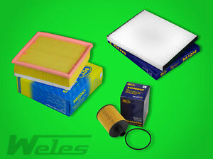 Inspektionskit filtro paquete Filterset para Opel Corsa D 1.3 CDTI 75 CV 95 CV