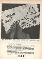 1969 Original Advertising' SAS Scandinavian Airlines System Company Aerial Cargo