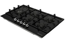 Russell Hobbs Glass hob with 5 Gas Burners, Manual Dial Control, RH86GH701B
