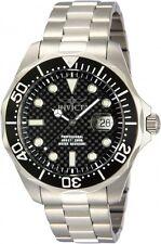 Invicta Men's Pro Diver Quartz 3 Hand Black Dial Watch 12562