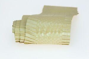 Snake Leather Glitter Snake Skin Elaphe Carinata Hide Leather Snakeskin 8 Colors