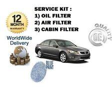 pour Honda Accord 2.4 Vtec 2008> NEUF Service Huile Air Le pollen /
