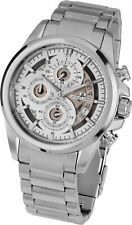 Jacques Lemans Men's Liverpool 46mm White Dial Stainless Steel Chrono Watch