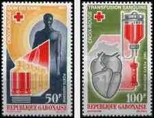 Timbres Santé Médecine Croix Rouge Gabon PA56/7 ** (31166)