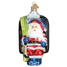"""Santa on Ski Lift"" (40296)X Old World Christmas Glass Ornament w/OWC Box"