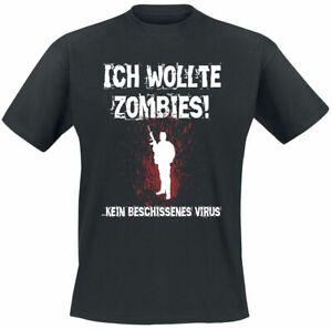 Ich wollte Zombies!  Männer T-Shirt schwarz   Funartikel, Horror, Sprüche