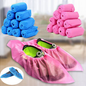 100-500 Pack Shoe Covers Disposable Non-Woven Fabric Booties Non-Slip Durable