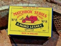 LESNEY MATCHBOX MOKO NO.8A CATERPILLAR TRACTOR CUSTOM DISPLAY/STORAGE BOX ONLY