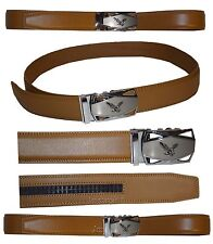 "Men's belt. Leather Dress/Casual Click Comfort Automatic Lock belt up to 50"" New"