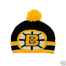 "Boston Bruins CCM Hockey ""NHL CCM Oversized Logo Cuffed Pom Knit"" Hat Toque"