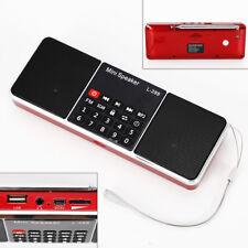 FM AM Mini Radio Digital LCD Speaker MP3 Music Player AUX USB TF+ Battery HOT