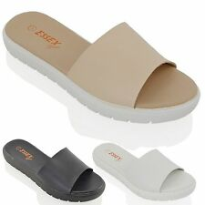 Block Heel Mules Synthetic Leather Shoes for Women