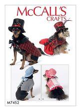 MCCALLS SEWING PATTERN 7452 DOG PET STEAMPUNK COSTUMES SMALL THRU XXL