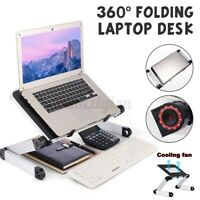 Portable Adjustable Laptop Bed Table Stand Computer Desk Sofa Lap Tray Foldable