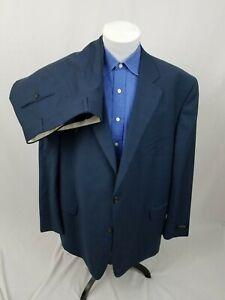 JACK VICTOR New NWOT Blue REFLEX STRETCH 2-Piece Suit 52 PR 51 Waist