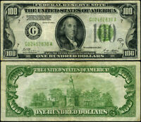 FR. 2151 G $100 1928-A Federal Reserve Note Chicago LGS VF