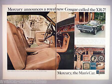 Mercury Cougar Double-Page PRINT AD - 1967