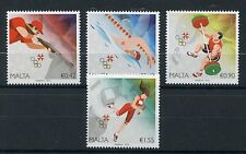 Malta 2016 MNH Olympic Summer Games Rio 2016 4v Set Swimming Olympics Stamps