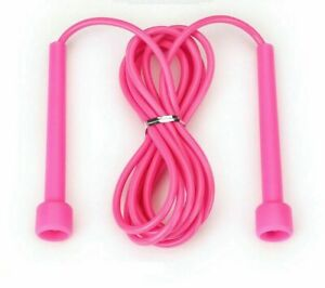 Pink Skipping Ropes Nylon Jump Fitness Speed Rope Training Gym Workout MMA