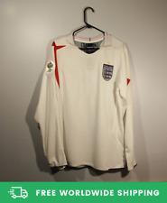 England 2006 World Cup Home Long-Sl Jersey Shirt Beckham Owen Scholes Sizes S-XL