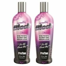 2x Pro Tan Incredibly Black Ultra Bronzing Sunbed Tanning Lotion + Free Goggles