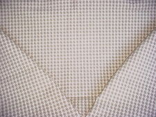 3Y DONGHIA / RUBELLI MAGNIFICENT WHITE / TAUPE HOUNDSTOOTH UPHOLSTERY FABRIC