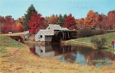 Postcard Old Mill Black Forest Trading Post PA