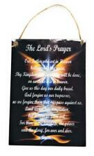 The Lord's Prayer with Angel Wings For Wall Door Home Decor 5 x 7 Wood Sign