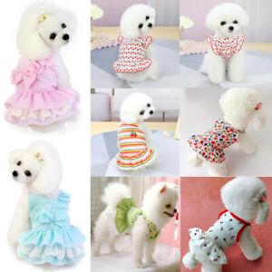 Princess Dog Cat Dress Pet Puppy Skirt Yorkshire/Chihuahua Spring/Summer Clothes