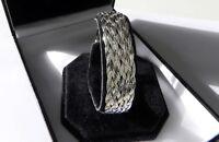 STUNNING, PRISTINE 13g sterling silver 925 full HM braided snake chain bracelet