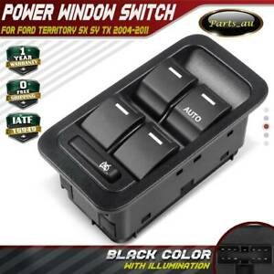 Master Window Switch for Ford Territory SX SY TX 04-11 Illuminated Black 13 Pins