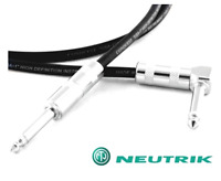 Conquest Sound HQA Guitar Instrument Cable Straight + Angle Neutrik Ends 20 Gaug