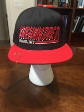 The Hundreds Drawing Lines Flat Brim Snap Back Hat With Fish Hook Baseball Cap
