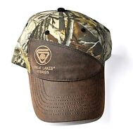 Great Lakes Hybrids Seed Corn Camo and Brown Hat Cap Strap Back Adjustable New