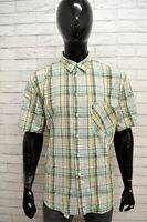 Camicia Uomo CARRERA Taglia Size XL Maglia Shirt Man Cotone Slim a Righe Scacchi