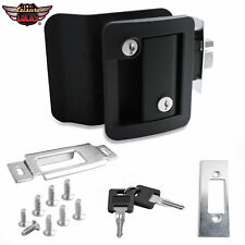 Black RV Entry Door Lock Handle Knob w/ Deadbolt Camper Travel Trailer Latch Key