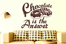 Chocolate Is The Answer Vinilo Pegatinas De Pared Adhesivo Decoración