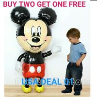 """jumbo 44"""" Mickey  Mouse Birthday Baby showe Party Balloons Balloon Red US SELLER"""