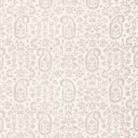 "Schumacher ""Kalika Paisley"" Floral Exotic Print Cream Beige Modern Fabric 1 Yd"