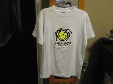 Jamaica Smile Mon Smiley Face Dreadlocks White T-Shirt–Small-NWOT