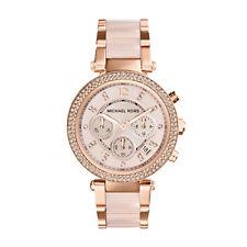 imported Michael Kors Women's MK5896 Rose Gold-cream tone Chronograph Watch.NEW