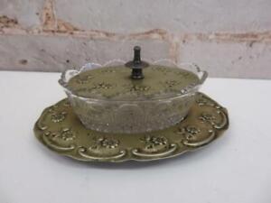 rare antique Victorian art nouveau jam butter dish