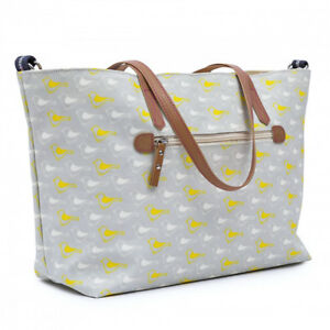 BRAND NEW - Pink Lining Notting Hill Tote Bag - Garden Birds Changing /Nappy Bag