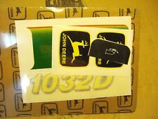 John Deere Decal Kit 1032D Snow Blower Universal John Deere Leaping Deer