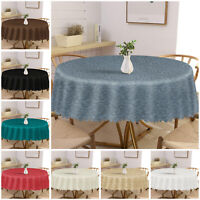 Round Table Cloth Cover Damask Jacquard Floral Party Kitchen Tableware OR Napkin
