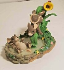 Charming Tails The Waterslide Figurine 87/384 Two Mice 1997